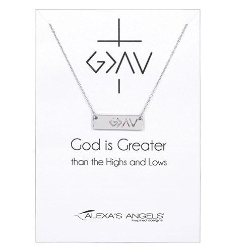 God > Necklace Silver