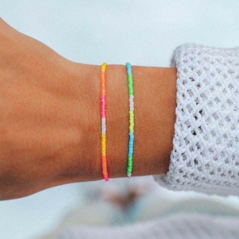 Neon Ombre Seed Bead Bracelet