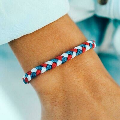 Braided PV Red, White & Blue