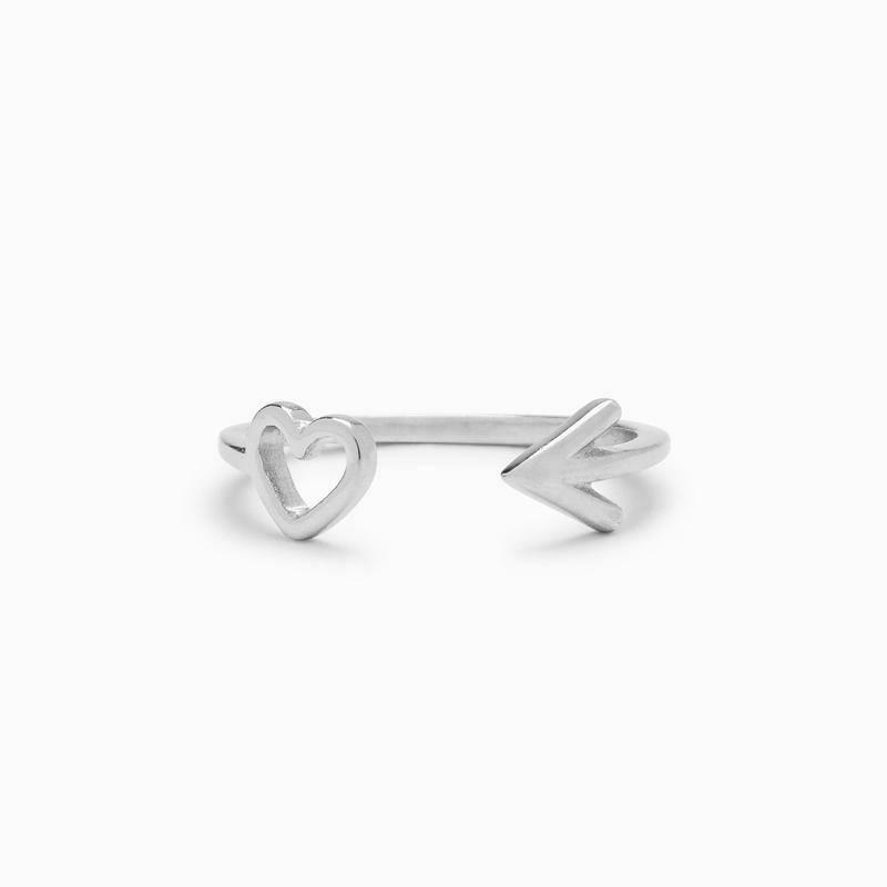 Heart & Arrow Toe Ring
