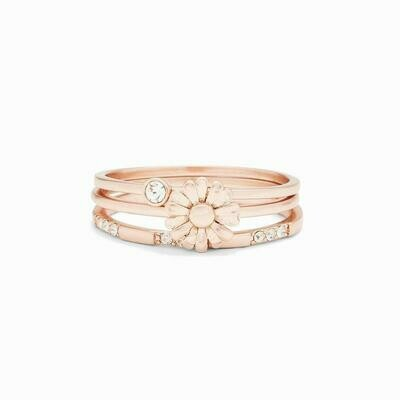 Daisy Picker Stack Ring Rose Gold