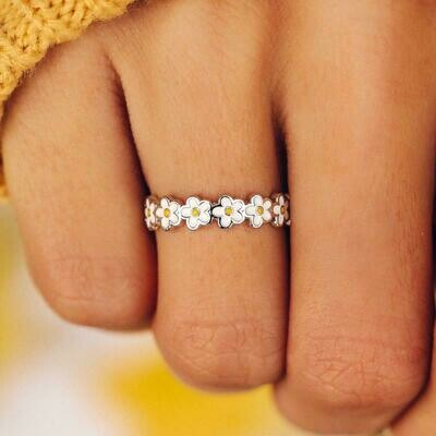 Painted Blooms Ring