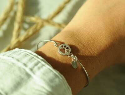 Power of Attraction Bracelet Paw Print
