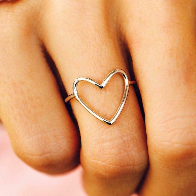 Big Heart Band Ring