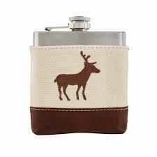 Deer Canvas Flask - Deer Canvas