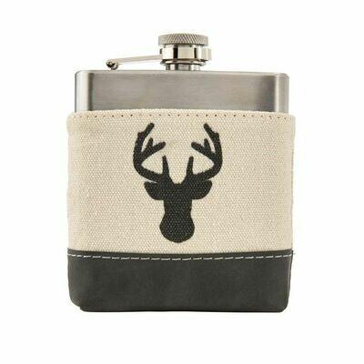 Deer Canvas Flask - Buck Canvas