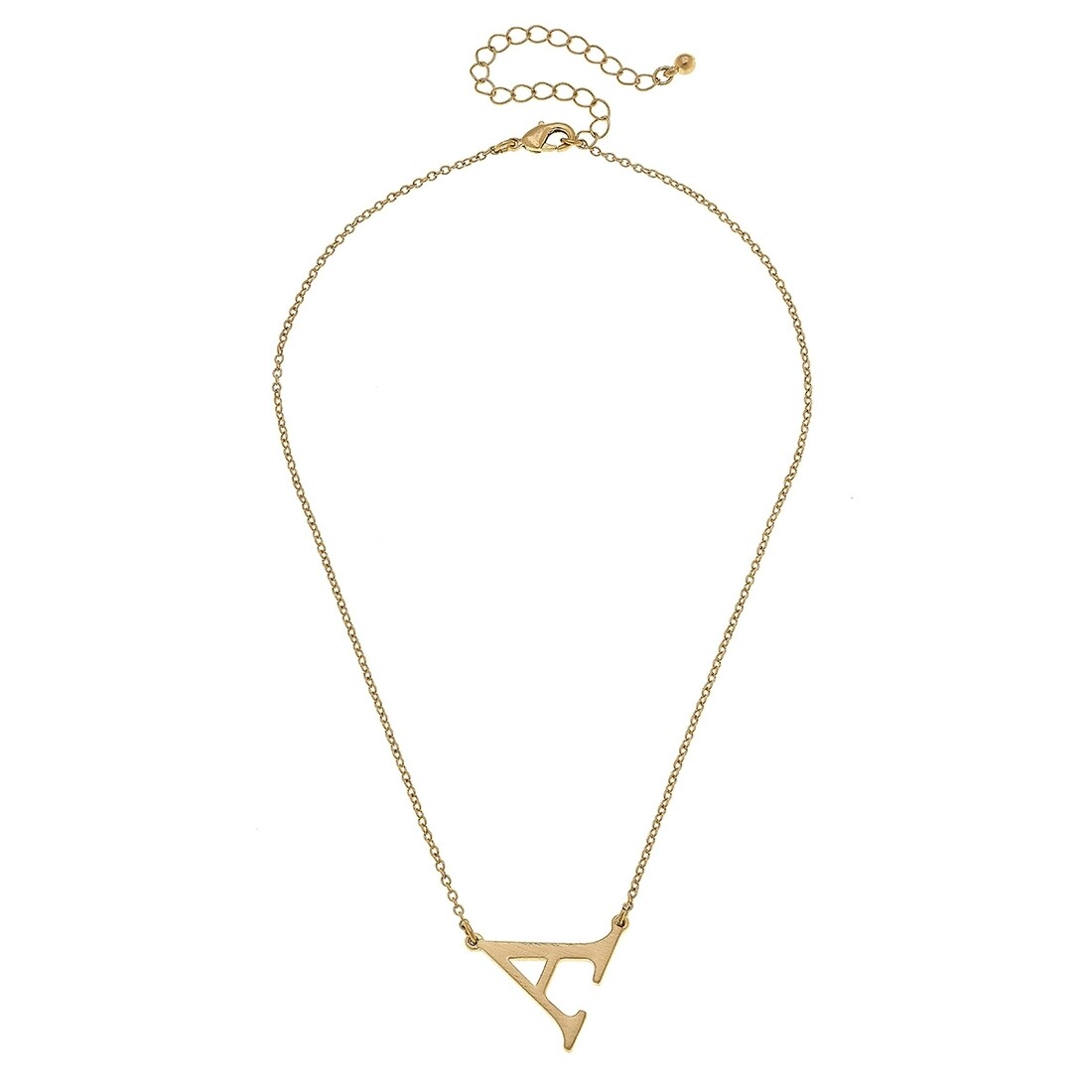 Livia Initial Necklace - A Gold