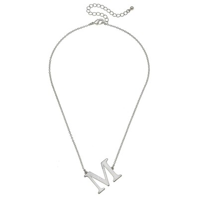Livia Initial Necklace - M Silver