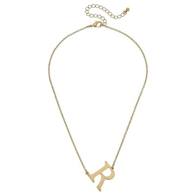 Livia Initial Necklace - R Gold