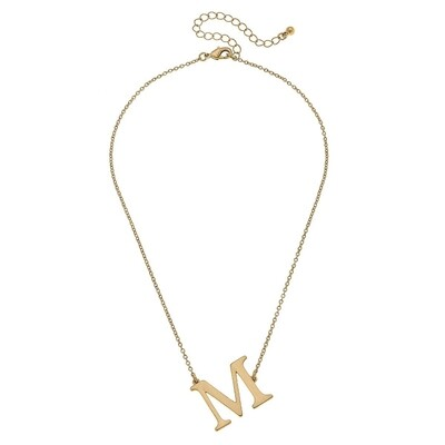 Livia Initial Necklace - M Gold