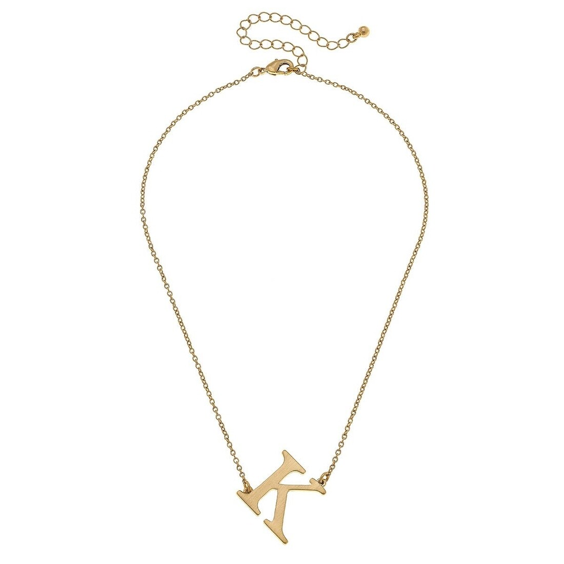 Livia Initial Necklace - K Gold