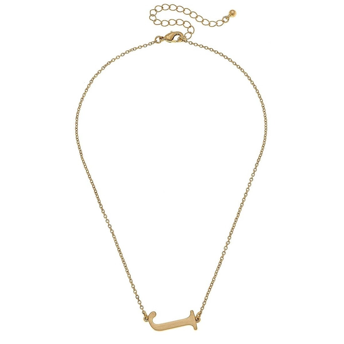 Livia Initial Necklace - J Gold