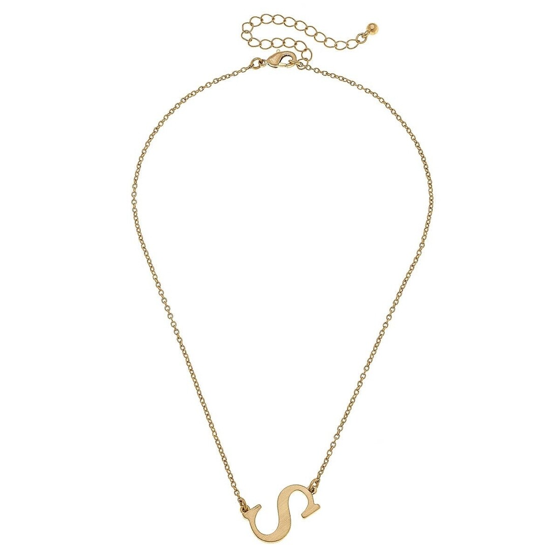 Livia Initial Necklace - S Gold