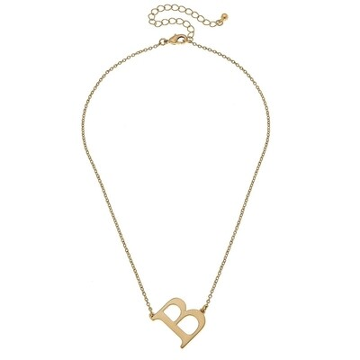 Livia Initial Necklace - B Gold