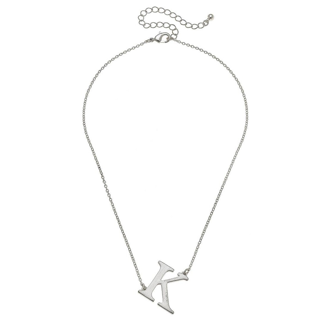 Livia Initial Necklace - K Silver
