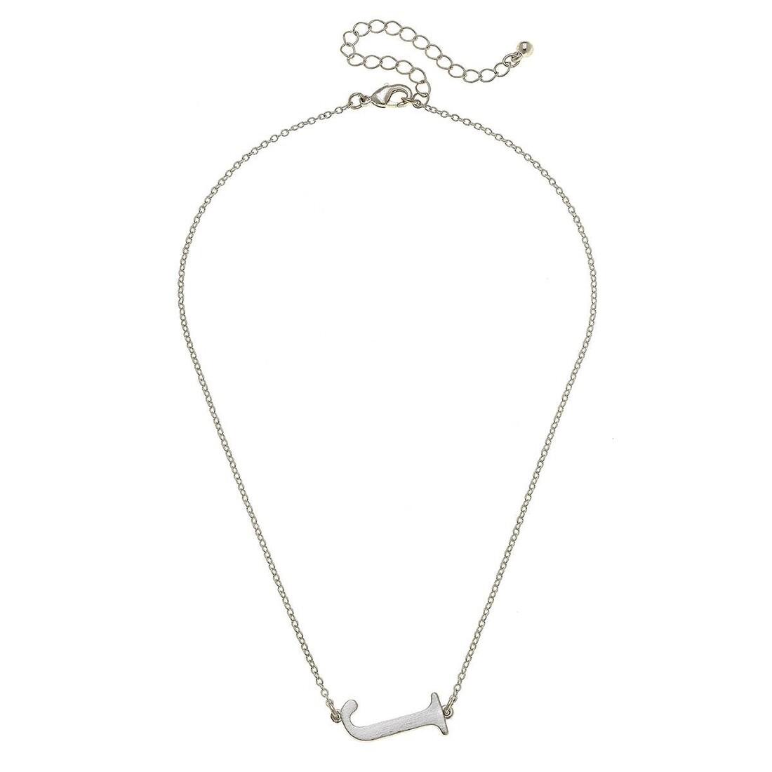 Livia Initial Necklace - J Silver