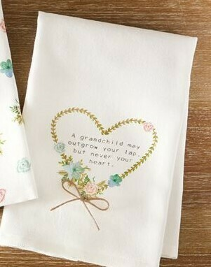Heart Grandma Floral Towel