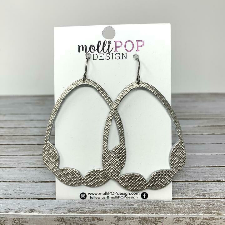 Saffiano Hoop Cut Out Earring