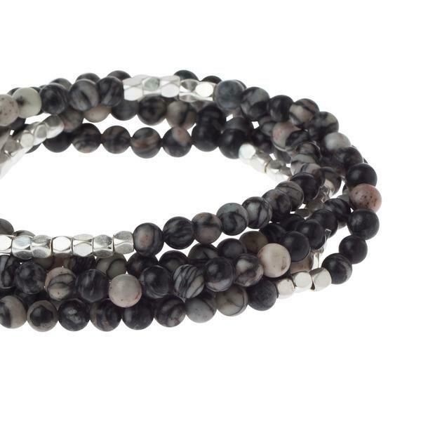 Stone Wrap - Black Net Agate