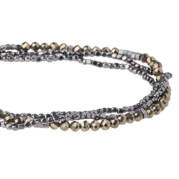Delicate Stone Wrap - S/Pyrite