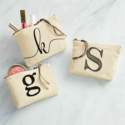 Initial Canvas Bags