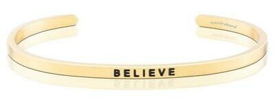 Yellow Gold MantraBand Believe