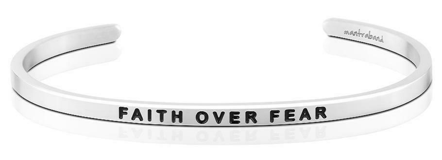 MantraBand Silver - Faith Over Fear
