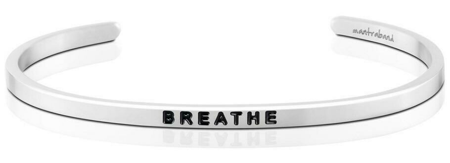 MantraBand Silver - Breathe