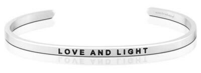 MantraBand Silver - Love and Light