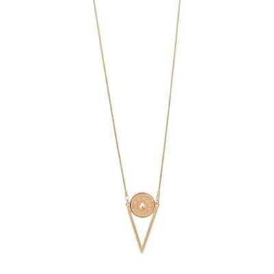Modern V Necklace Rose Gold