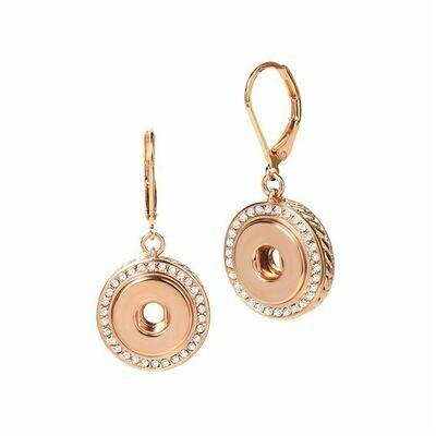 Bling Dangle Earrings Rose Gold