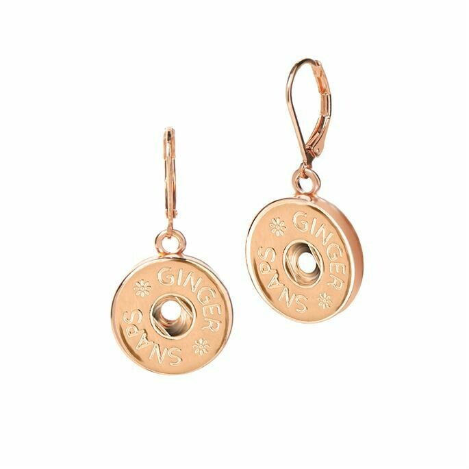 Leverback Earrings - Rose Gold