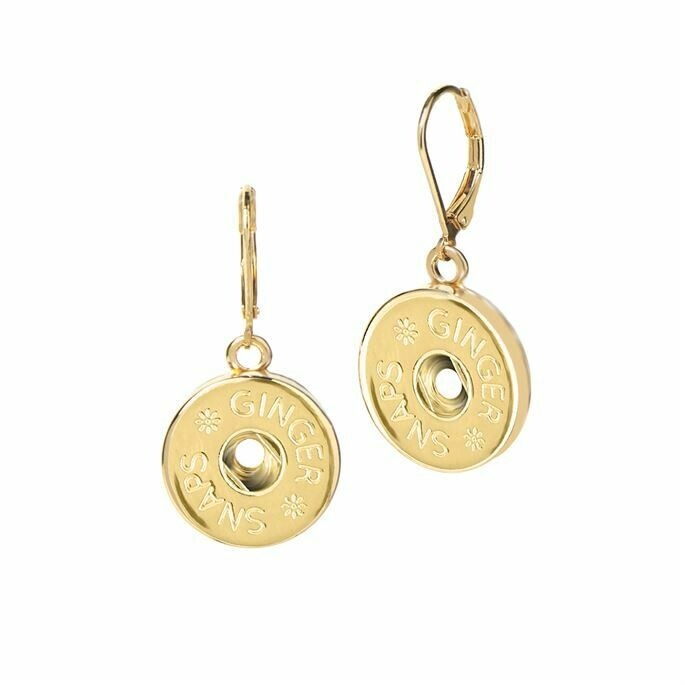 Leverback Earrings - Gold