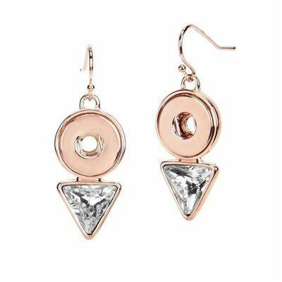 Diamond Drop Earrings-Rose Gold