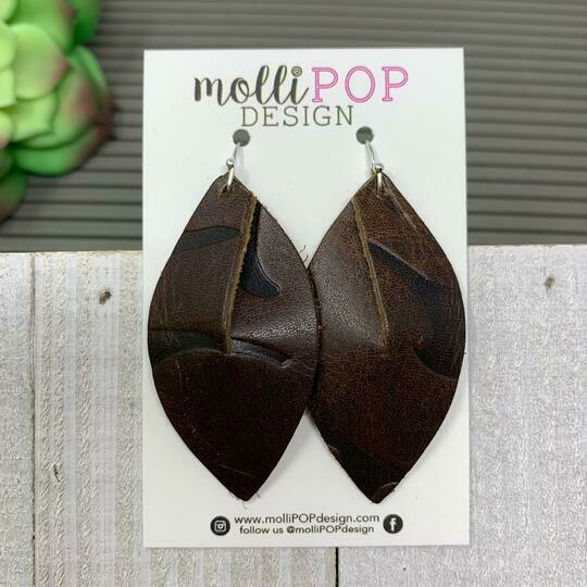 Chocolate Embossed Earrings