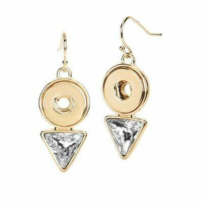 Diamond Drop Earrings-Gold