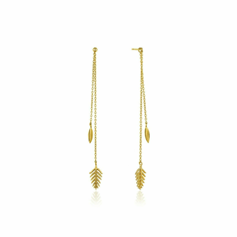 Tropic Drop Earrings Gold