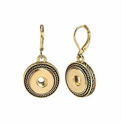Gold Petite Rope Earrings