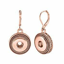 Rose Gold Rope Dangle Earrings