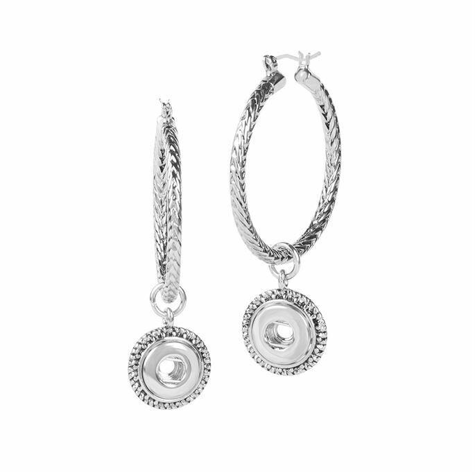 Petite Large Twist Hoop Earrings