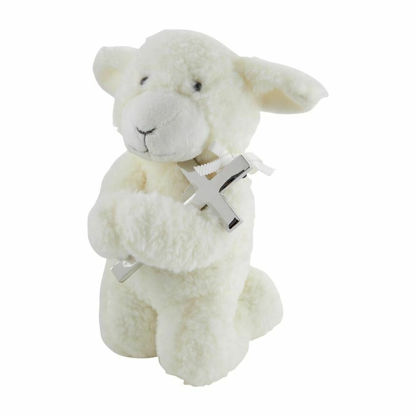 Musical Prayer Lamb w/ Cross
