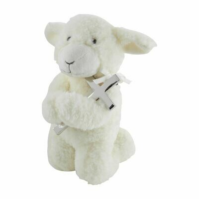 Musical Prayer Lamb w/ Cross