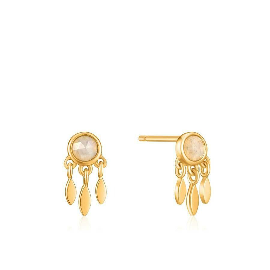 Midnight Fringe Stud Earrings