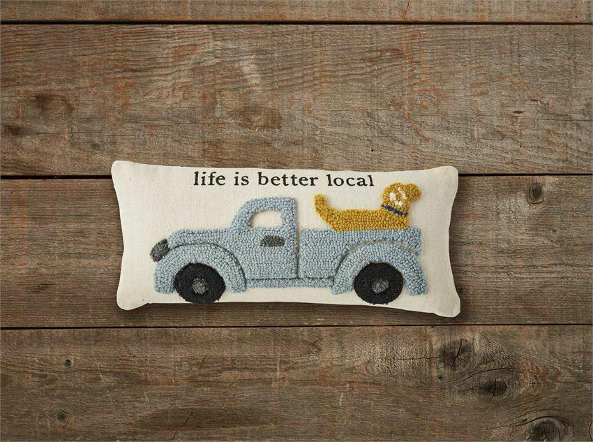 Farm Truck & Dog Pillow