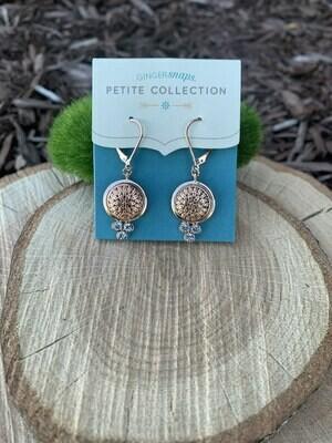 Petite Rose Gold Lyra Earrings w/Snaps