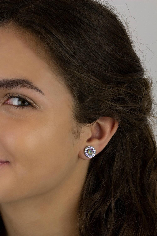 Halo Swarovski Crystal Earrings