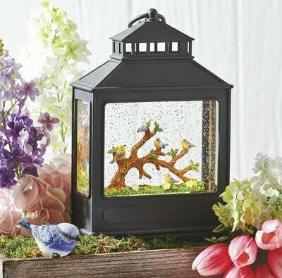 Birds on Branch Lantern