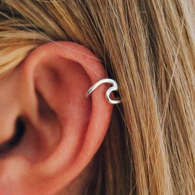 Wave Ear Cuff Silver