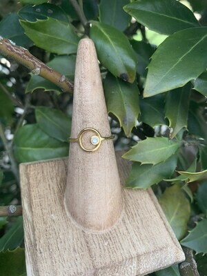 Gold Circle Ring - Silver Shade