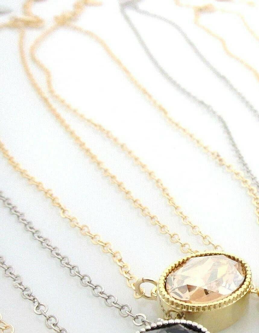 Gold Oval Pendant -Vintage Rose
